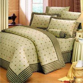 【諾貝達•莫卡利】風雅浪漫 40支棉七件組-5x6.2呎雙人(100%精梳棉)鋪棉床罩組R7039B-M