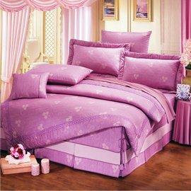 【諾貝達•莫卡利】溫馨小品 40支棉七件組-5x6.2呎雙人(100%精梳棉)鋪棉床罩組R7082A-M