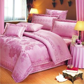 【諾貝達•莫卡利】薔薇花語 40支棉七件組-5x6.2呎雙人(100%精梳棉)鋪棉床罩組R7069-M