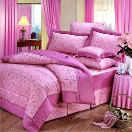 【諾貝達•莫卡利】彩夢精靈 40支棉七件組-5x6.2呎雙人(100%精梳棉)鋪棉床罩組R7080A-M
