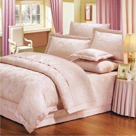 【諾貝達•莫卡利】米蘭花語 40支棉七件組-5x6.2呎雙人(100%精梳棉)鋪棉床罩組R7077-M