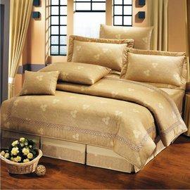 【諾貝達•莫卡利】溫馨小品 40支棉七件組-5x6.2呎雙人(100%精梳棉)鋪棉床罩組R7082B-M