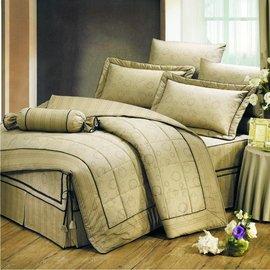 【諾貝達•莫卡利】夢想樂曲 40支棉七件組-5x6.2呎雙人(100%精梳棉)鋪棉床罩組R7080B-M