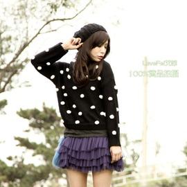 {5折 庫存}^~Love Fei 艾菲^~{100^%實拍}毛線球球 寬鬆短版毛衣 3色