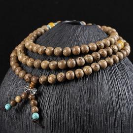 珠徑0.8cm^~108顆至善工藝 順紋雞翅木手鏈男女飾品108顆 佛珠廠家