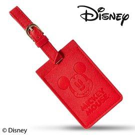 Diseny 迪士尼高 十字皮革紋旅行  印度紅