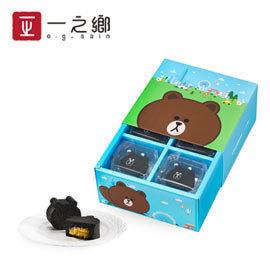 ~一之鄉春節伴手禮~LINE FRIENDS 熊大巧克力鳳梨酥 燕麥千層棒10條