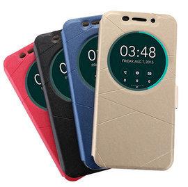 華碩ASUS   Zenfone2 Laser5.5/5吋( ZE550KL)  錢包式手機殼/顯示功能皮套/視窗支架保護套 (條紋款)