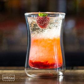 英國Mibuu 雙層玻璃杯 ^(大迷布250ml 單杯裸裝^)