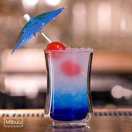 英國Mibuu 雙層玻璃杯 ^(小迷布100ml 單杯裸裝^)