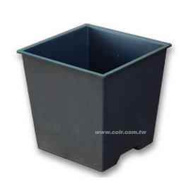 5.5寸(16.5cm)加厚方型盆(黑色)~单入