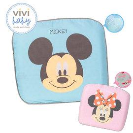 聰明媽咪~ViVibaby 迪士尼微笑米奇 蝴蝶結米妮塑型枕^(雙布套~藍 粉^)