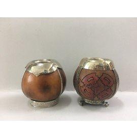 ~友客里~^(^(瑪黛茶杯^)^)傳統南美瑪黛茶杯~吸管~~ ~~ 南美文物產品