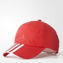 ADIDAS  休閒 老帽 運動帽-紅/白 AY7864