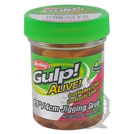 ◎百有釣具◎貝克力BERKLEY Gulp! ALIVE! INCH HAWG 1.5吋罐裝捲尾蛆 軟蟲 顏色隨機出貨