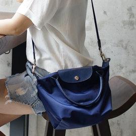 斜背包 短柄加厚尼龍側背包^(小^) 女用包 水餃包 托特包 手提包~tt bag~