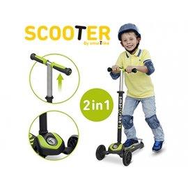 【紫貝殼】『CIB13-1』【英國 smarTrike - scooter】時尚 2 in 1 初進階三輪滑板車-綠 原廠公司貨