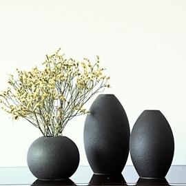 花瓶 簡約陶瓷彩砂釉花瓶干花花插 茶道擺件家居軟裝飾品工藝品~ 酷咖 旗艦店