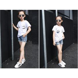 2016夏款女童T恤 中大童卡通印花棉質上衣兒童短袖寬鬆體恤衫 浪漫衣櫥