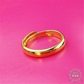 戒指 ~ 越南沙金情侶對戒女士歐幣首飾品歐幣不褪色仿真假男士戒  鍍金 浪漫衣櫥