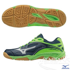 MIZUNO 美津濃 LIGHTNING STAR Z2 JNR 兒童排球鞋 (丈青*綠) 2016年新款