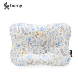 韓國【 Borny 】 3D透氣蜂巢塑型嬰兒枕(0~6個月適用) (藍小鹿)