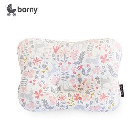 韓國【 Borny 】3D透氣蜂巢塑型嬰兒枕(0~6個月適用) (粉小鹿)