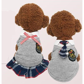 DP雜貨鋪 寵物超萌英倫學院風情侶裝 貓狗衣服 吉娃娃 比熊 貴賓 博美