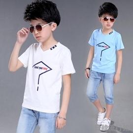 2016 男童短袖T恤男孩夏裝 兒童純棉中大童體恤半袖衫 型男原創館