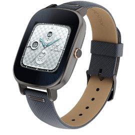 施華洛世奇限定款 華碩穿戴式智慧手錶 ZenWatch 2 WI502QBQC真皮晶鑽藍