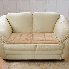 ~格藍傢飾~皇家絨毛保暖坐墊~2人座~駝色   ~沙發墊 沙發 保潔墊 坐墊