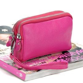 手拿包 素面雙層多 簡約小包手拿包~CL~SL1006~ BOBI 12 22