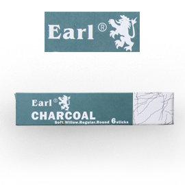 ~時代中西畫材~EARL CHARCOAL 畫用木炭 ^#576 濃淡 6支入