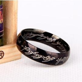 型男戒指 ~ 魔戒戒指男士霸氣 黑色指環 潮流鈦鋼潮人飾品 日韓優品旗艦店
