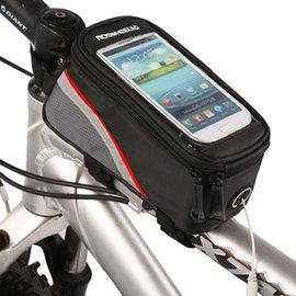 PUSH!自行車用品 六代加大碼自行車前置物袋 手機袋 上管袋 工具袋可裝4.8寸屏手機