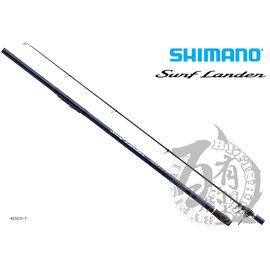◎百有釣具◎SHIMANO Surf LEADER 425BX-T 振出遠投竿  (24625)~「SPIRAL X」+「HI POWERX」之雙重X構造