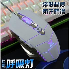 炫光X6 有線鼠標lol 電競網吧加重筆記本電腦USB發光 遊戲鼠標 型男株式會社