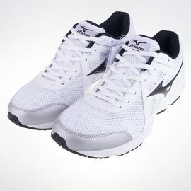 Mizuno  大尺碼 寬楦 MAXIMIZER 19 男慢跑鞋-白/黑 K1GA170010
