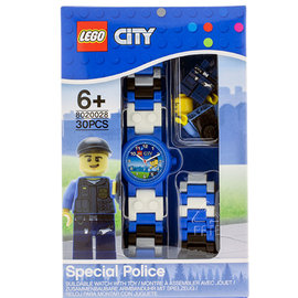 免 ~ 樂高積木 LEGO ~兒童手錶 ~ 城市警察 ╭~ JOYBUS歡樂寶貝