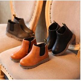 24H 發貨  童靴兒童馬丁靴 女童低筒短靴 男童靴子皮靴潮12~20