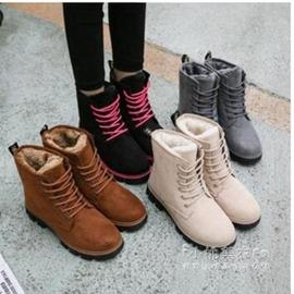 24H 發貨  馬丁靴女保暖加絨鞋棉鞋平底短靴雪地棉鞋女鞋棉靴潮12~20