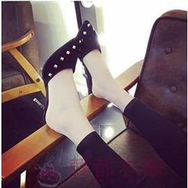 涼拖鞋女夏2016性感細跟包頭高跟涼鞋 尖頭鉚釘拖鞋半拖潮女鞋 型男部落