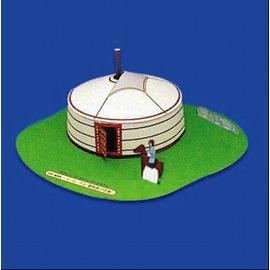 DIY 益智剪紙折紙 草原房子 蒙古包 蒙古屋 3D立體拼裝紙模型