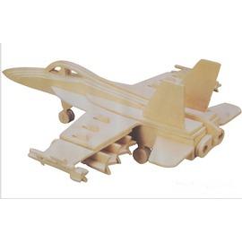 3D立體木制拼圖木質益智玩具 學生 材料飛機模型 F-18戰機