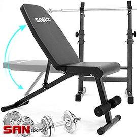 【SAN SPORTS】角度調整型仰臥起坐板C080-6005DG重量訓練機啞鈴椅舉重床舉重椅健腹機健腹器仰臥板臥推椅啞鈴凳子運動健身器材推薦