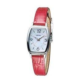 SEIKO VIVACE 優雅漫步太陽能 腕錶 紅 V117~0DA0R