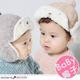 冬季小熊金蔥加絨寶寶針織帽 護耳帽【HH婦幼館】