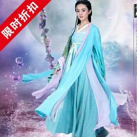 藍色130 古裝仙女貴妃花千骨服裝趙麗穎白子畫漢服cos公主同款武媚娘