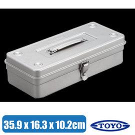 【日本 TOYO】日本製 原裝進口無接縫一體成型萬用提把方型工具箱/小型收納盒/可放露營工具不佔空間/T-350SV 銀