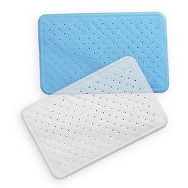 【安琪兒】奶油獅晶透矽膠吸盤式浴室浴缸防滑墊/35×56cm(藍白顏色隨機)